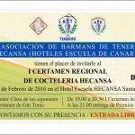 Invitación al certamen de Coctelería ABTenerife - Hecansa