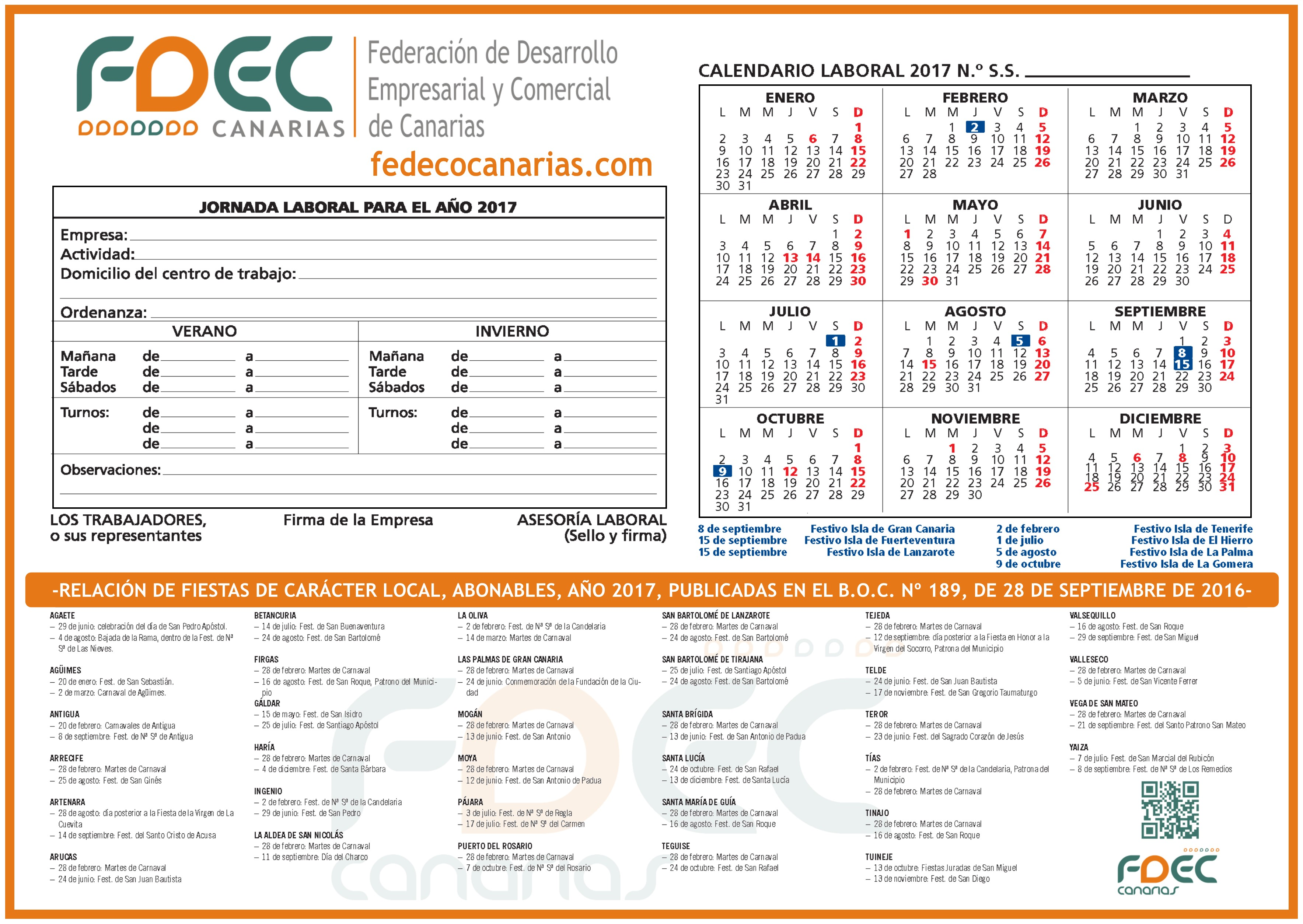 calendario-laboral-fdec-gran-canaria-2017